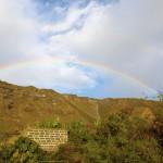 un arco iris sobre la plantación